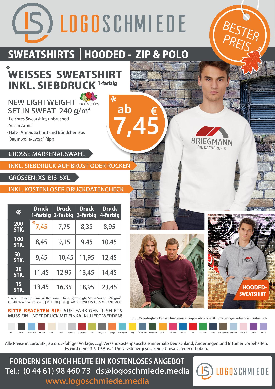 Sweatshirt mit Logodruck